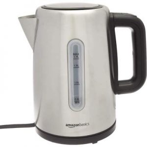AmazonBasics Stainless Steel Fast, Portable Electric Hot Water Kettle