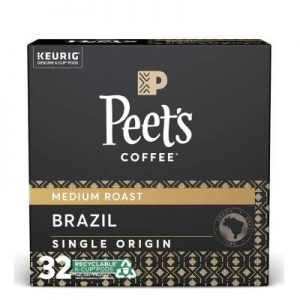 Peet's Coffee Brazil Minas Naturais K-Cup Coffee Pods for Keurig Brewers