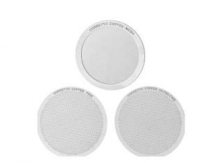 Corretto Set of 3 Reusable Filters for AeroPress; Mesh, Fine, and Ultra-Fine