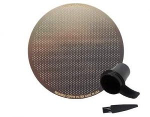 GoldTone steel filter for Aeropress and espresso makers